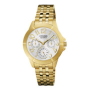 Citizen® Eco-Drive® Womens Gold-Tone Stainless Steel Bracelet Watch ED8102-56A