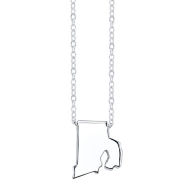 jcpenney.com | Footnotes® Sterling Silver Rhode Island State Necklace