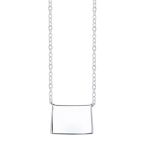 Footnotes® Sterling Silver Colorado State Necklace