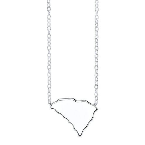 Footnotes® Sterling Silver South Carolina State Necklace