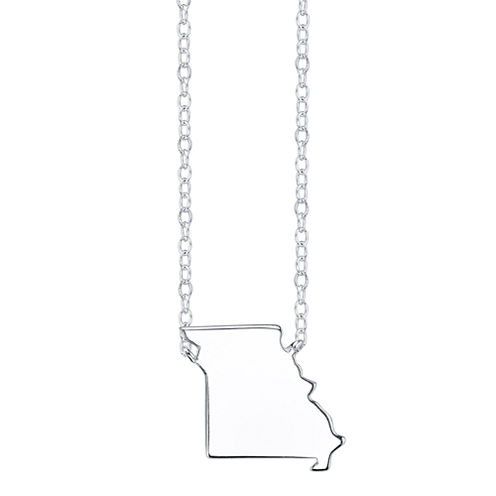 Footnotes® Sterling Silver Missouri State Necklace