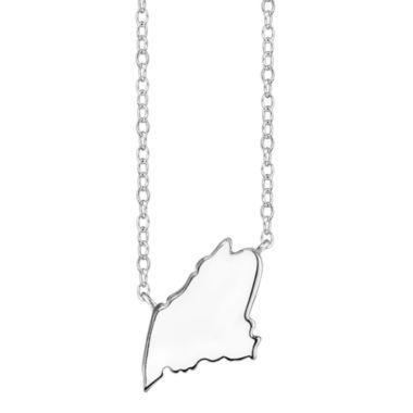 jcpenney.com | Footnotes® Sterling Silver Maine State Necklace