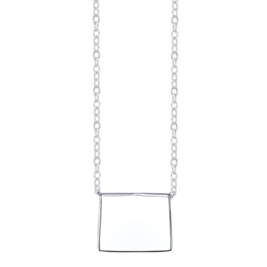 jcpenney.com | Footnotes® Sterling Silver Wyoming State Necklace