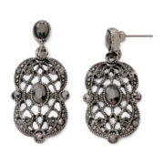 Liz Claiborne® Marcasite-Look Drop Earrings