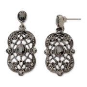 Liz Claiborne Marcasite-Look Drop Earrings