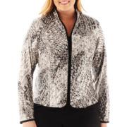 MSK Zip-Front Jacket - Plus
