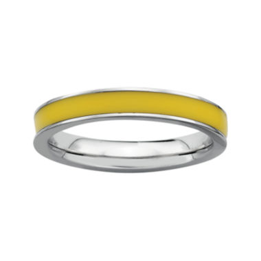 jcpenney.com | Personally Stackable Sterling Silver Yellow Enamel Stackable Ring