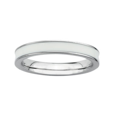 jcpenney.com | Personally Stackable Sterling Silver White Enamel Stackable Ring