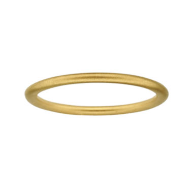 jcpenney.com | Personally Stackable 18K Yellow Gold Over Sterling Silver 1.5mm Satin Ring