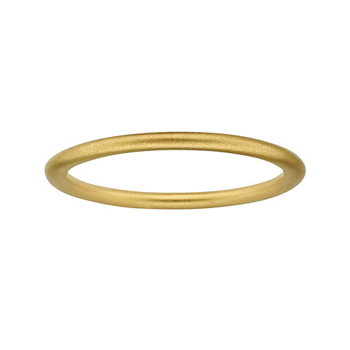 Personally Stackable 18K Yellow Gold Over Sterling Silver 1.5mm Satin Ring