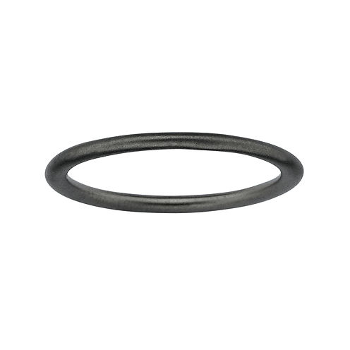 Personally Stackable Black Sterling Silver Stackable 1.5mm Satin Ring