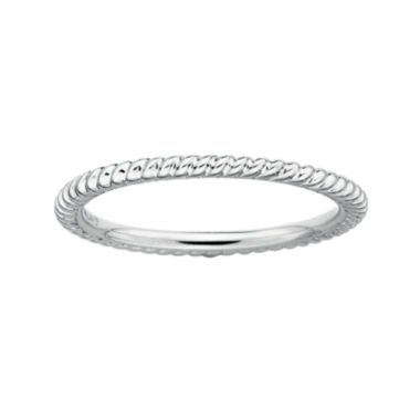 jcpenney.com | Personally Stackable Sterling Silver Stackable 1.5mm Twisted Ring