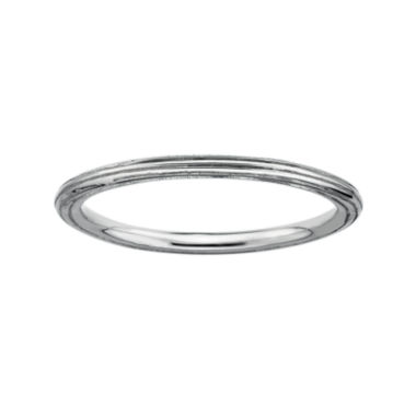 jcpenney.com | Personally Stackable Sterling Silver Stackable 1.5mm Step-Down Ring