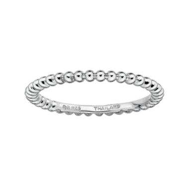 jcpenney.com | Personally Stackable Sterling Silver Stackable 1.5mm Beaded Ring