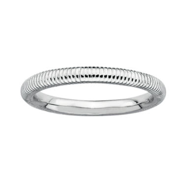 jcpenney.com | Personally Stackable Sterling Silver Stackable 3.5mm Ribbed Ring
