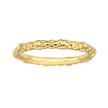 jcpenney.com | Personally Stackable 18K Yellow Gold Over Sterling Silver Stackable 1.5mm Cable