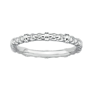 jcpenney.com | Personally Stackable Sterling Silver Stackable 1.5mm Cable Ring