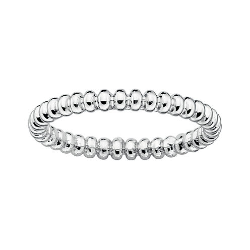 Personally Stackable Sterling Silver Stackable 3.5mm Beaded Ring