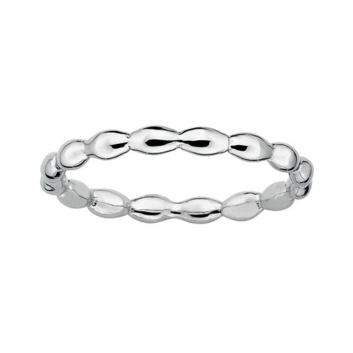 Personally Stackable Sterling Silver Stackable 1.5mm Rice Bead Ring