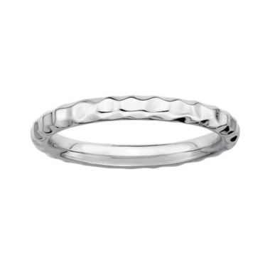 jcpenney.com | Personally Stackable Sterling Silver Stackable 3.5mm Hammered Ring