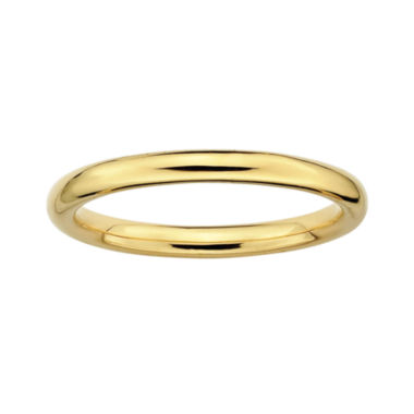 jcpenney.com | Personally Stackable 18K Yellow Gold Over Sterling Silver 3.5mm Polished Ring