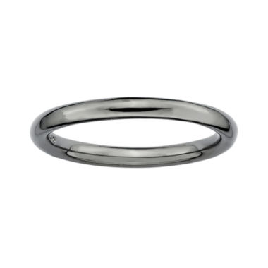 jcpenney.com | Personally Stackable Black Sterling Silver Stackable 3.5mm Polished Ring