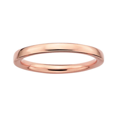 jcpenney.com | Personally Stackable 18K Rose Gold Over Sterling Silver 3.5mm Square-Edge Ring