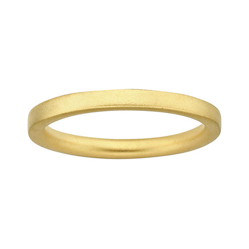 Personally Stackable 18K Yellow Gold Over Sterling Silver 3.5mm Satin Ring