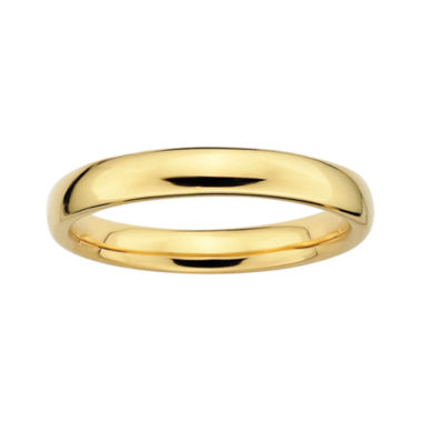 jcpenney.com | Personally Stackable 18K Yellow Gold Over Sterling Silver 3.5mm Rounded Ring