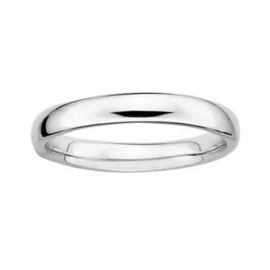 jcpenney.com | Personally Stackable Sterling Silver Stackable 3.5mm Rounded Ring