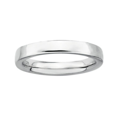 jcpenney.com | Personally Stackable Sterling Silver Stackable 1.5mm Square-Edge Ring