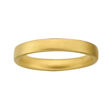 jcpenney.com | Personally Stackable 18K Yellow Gold Over Sterling Silver 3.5mm Satin Ring