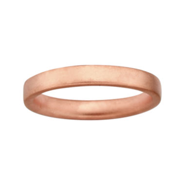 jcpenney.com | Personally Stackable 18K Rose Gold Over Sterling Silver 3.5mm Satin Ring