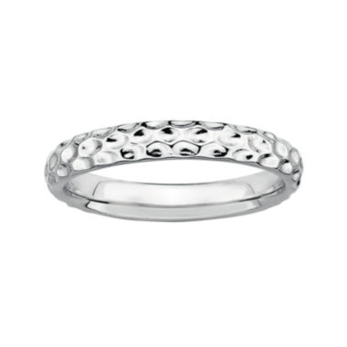 jcpenney.com | Personally Stackable Sterling Silver Stackable 3.5mm Pebbled Ring