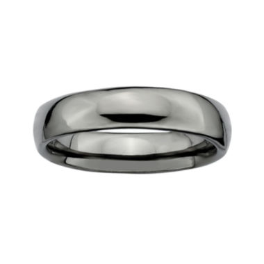 jcpenney.com | Personally Stackable Black Sterling Silver Stackable 3.5mm Rounded Ring