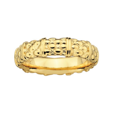 jcpenney.com | Personally Stackable 18K Yellow Gold Over Sterling Stackable 3.5mm Cable RIng