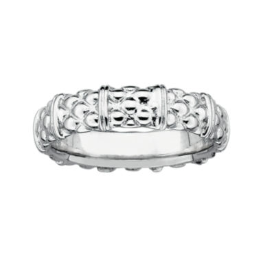 jcpenney.com | Personally Stackable Sterling Silver Stackable 3.5mm Cable Ring