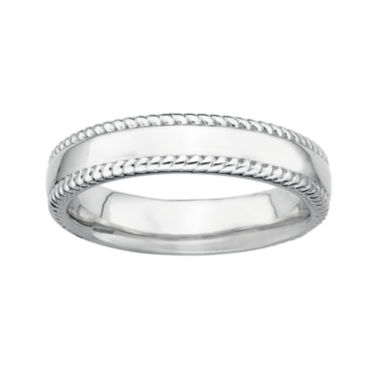 jcpenney.com | Personally Stackable Sterling Silver Stackable 1.5mm Milgrain-Edge Band Ring