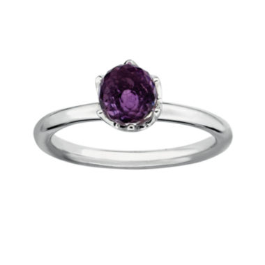 jcpenney.com | Personally Stackable Genuine Amethyst Sterling Silver Stackable Ring