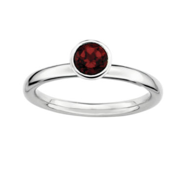jcpenney.com | Personally Stackable Genuine Garnet Sterling Silver Stackable Ring