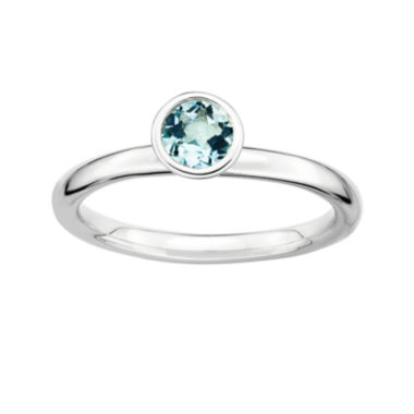 jcpenney.com | Personally Stackable Genuine Aquamarine Sterling Silver Stackable Ring