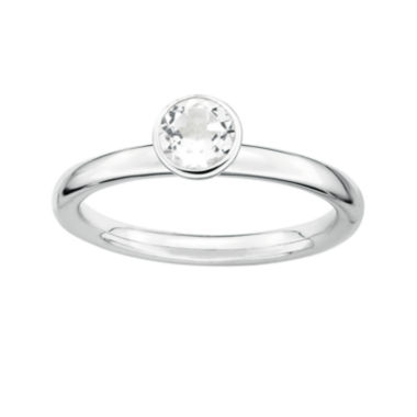 jcpenney.com | Personally Stackable Genuine White Topaz Sterling Silver Stackable Ring