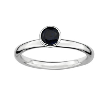 jcpenney.com | Personally Stackable Lab-Created Sapphire Sterling Silver Stackable Ring
