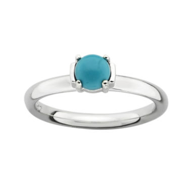 jcpenney.com | Personally Stackable Genuine Turquoise Sterling Silver Stackable Ring