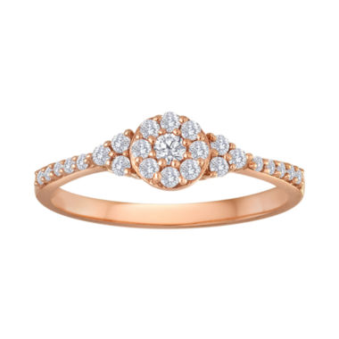 jcpenney.com | 1/3 CT. T.W. Diamond 10K Rose Gold Bridal Ring