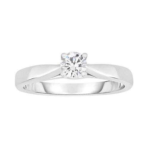 True Love, Celebrate Romance® 1/3 CT. Diamond Solitaire 14K White Gold Ring