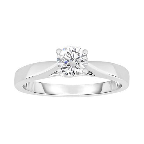 True Love, Celebrate Romance® 1/2 CT. Diamond Solitaire 14K White Gold Ring