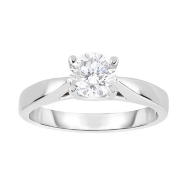 jcpenney.com | True Love, Celebrate Romance® 1 CT. Diamond Solitaire 14K White Gold Bridal Ring