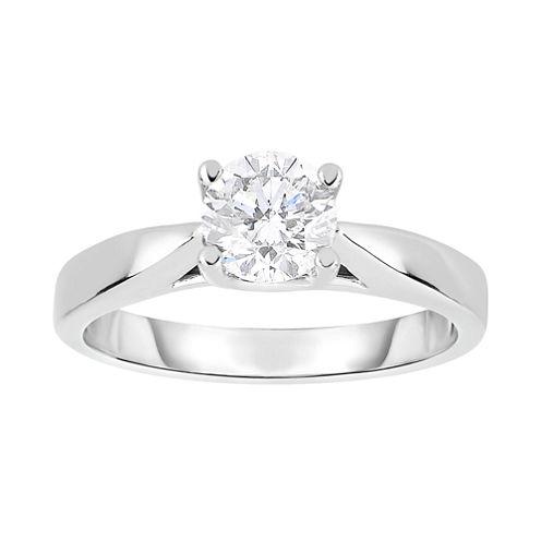 True Love, Celebrate Romance® 1 CT. Diamond Solitaire 14K White Gold Bridal Ring