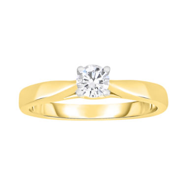 jcpenney.com | True Love, Celebrate Romance® 1/3 CT. Diamond Solitaire 14K Yellow Gold Ring